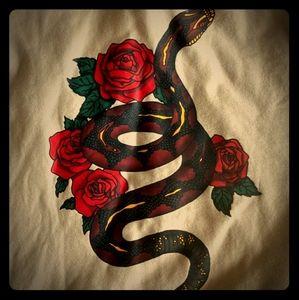 BRAND NEW Divided Snake/Rose Tan Hoodie